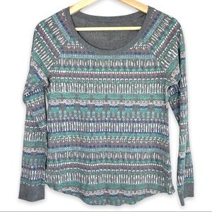 Printed Round Neck Thermal
